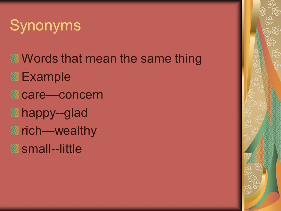 Synonyms, Antonyms, and Homonyms (Homophones) language arts. - ppt ...