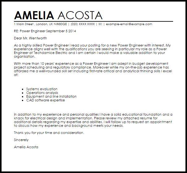 electrical power engineer resume
