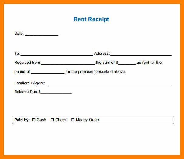 rental receipt template doc - Template