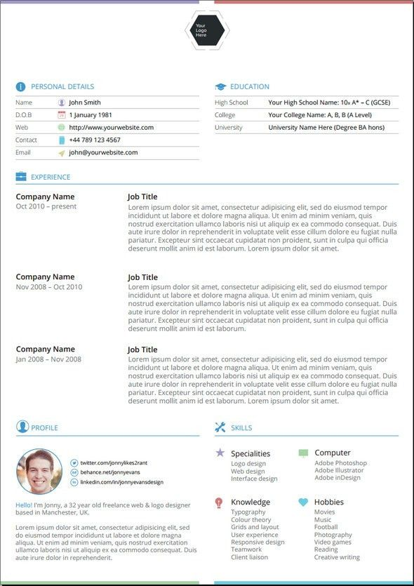 The Best Resume Template. Resume Cv 30+ Best Free Resume Templates ...