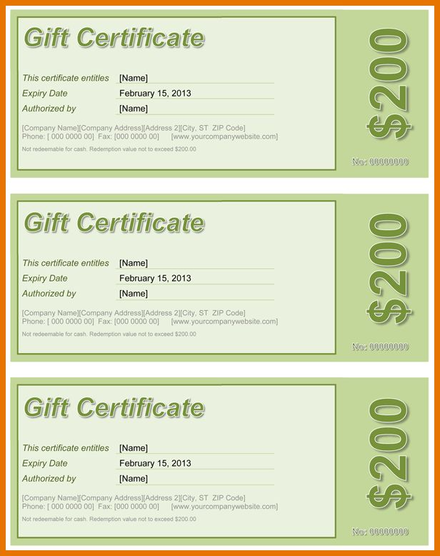 7+ microsoft word gift certificate template | Itinerary Template ...