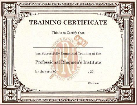 training certificate templates free