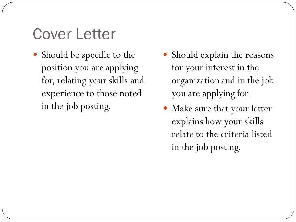 Cover Letters. Cover Letter Also known as a Job Application Letter ...