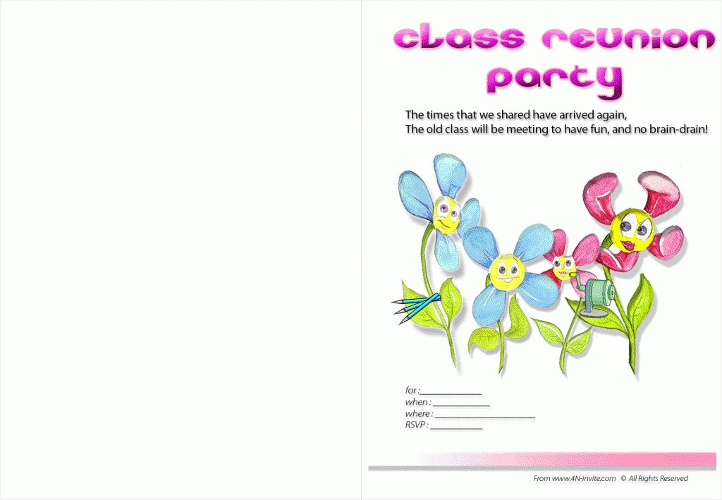 Unique Class Reunion Party Invitation Wording Verse