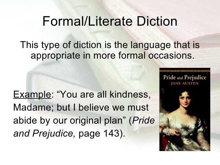 Diction Use