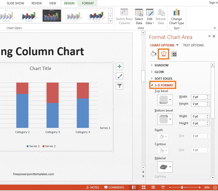 Sample Chart Templates » 3 Column Chart Template - Free Charts ...