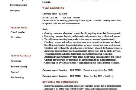 sample of bank teller resume physician assistant sample resume sle ...