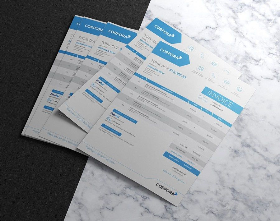 Creative Business Invoice Template - Free Design Resources