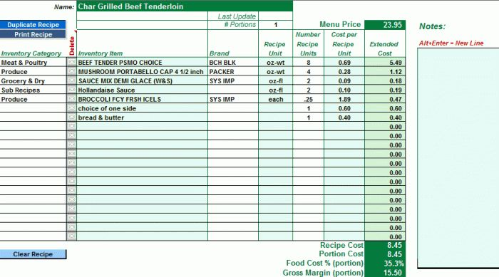 EZchef Software: Inventory Management, Menu Costing and Analysis ...