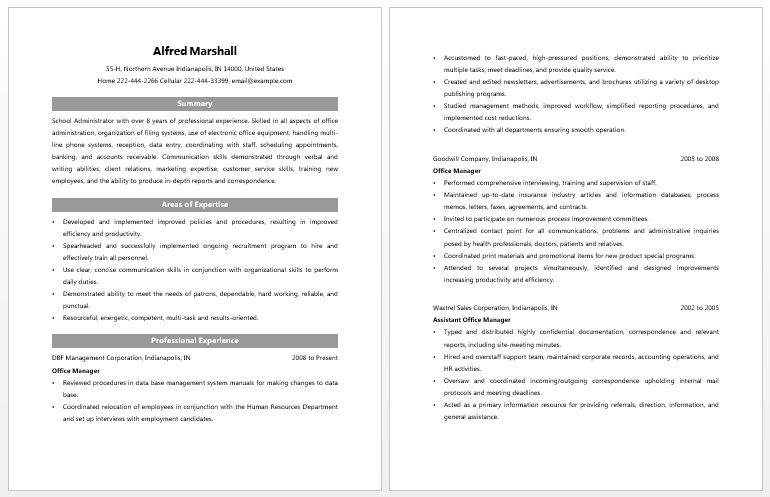 Download Education Administration Sample Resume ...