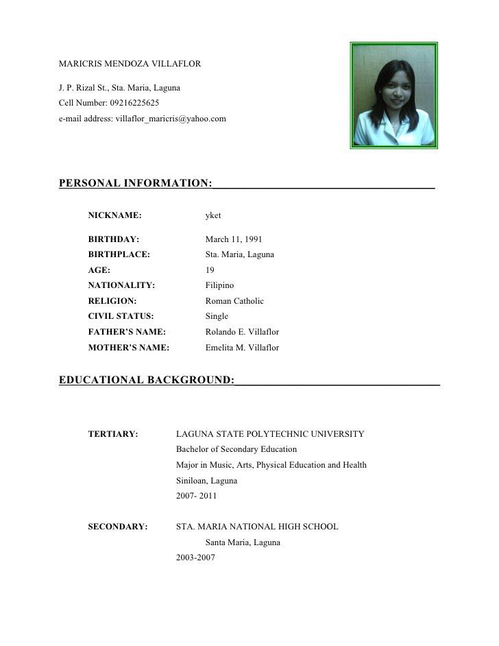 Curriculum Vitae Tips Examples | Create professional resumes ...
