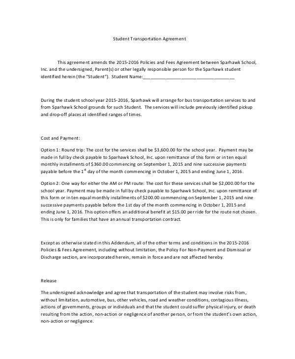 Sample Transportation Contract Forms - 8+ Free Documents in Word, PDF
