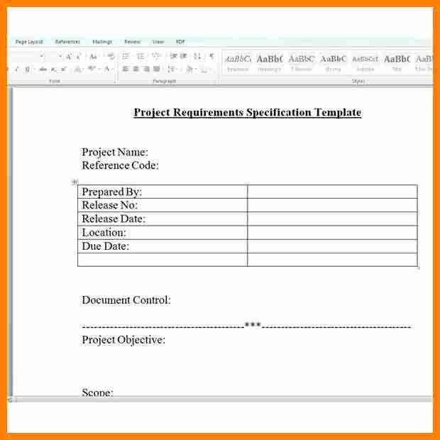 9+ simple requirements document template | job resumed