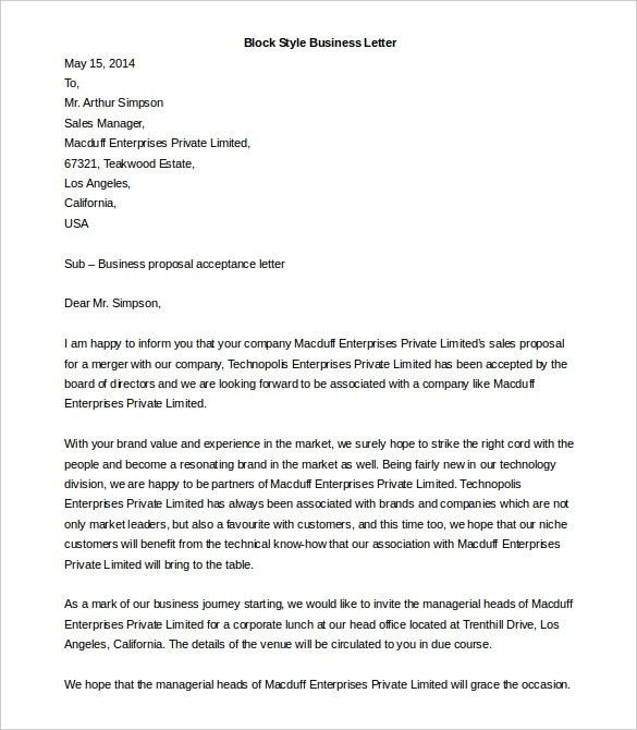 4 Business Letter Template Word Sop Templates Pdf Formal Letter ...