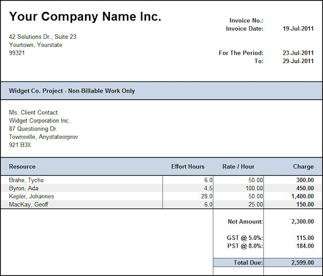 Download Hours Worked Invoice Template   rabitah.net