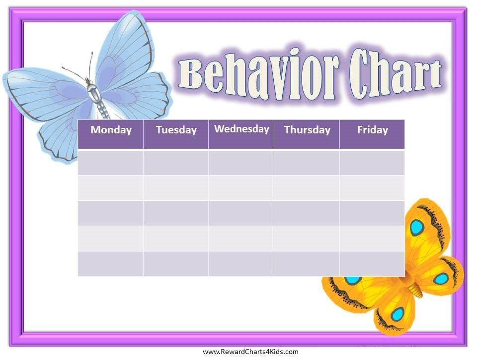 Free Printable Behavior Charts | Customize online
