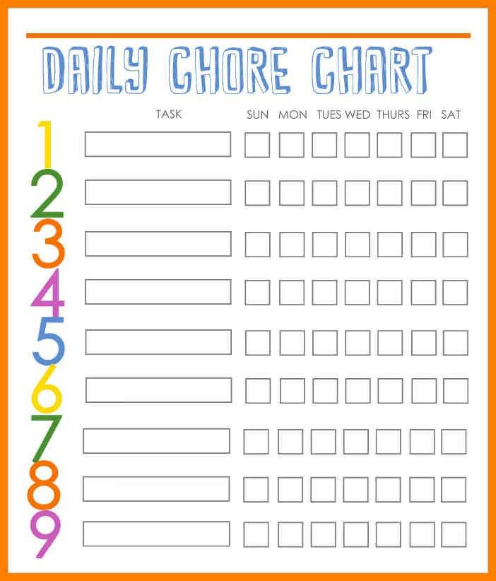Chore Chart Template. Chore Chart - Free Printable Coloring Pages ...
