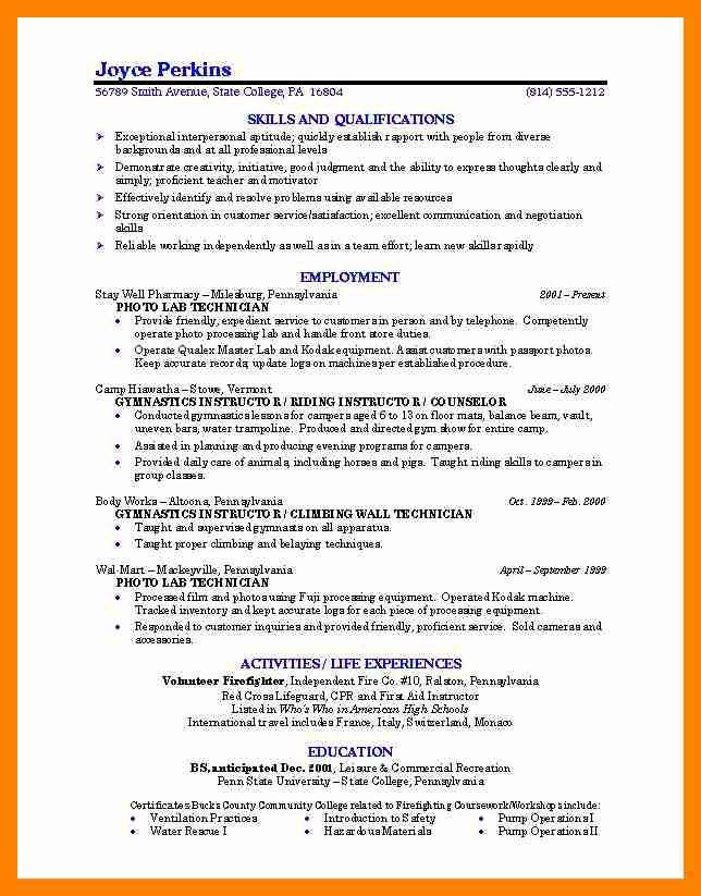 College Application Resume Sample For High School. college resume ...