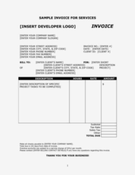 BoxedArt / Developer Downloads / Invoice Templates / Invoice ...