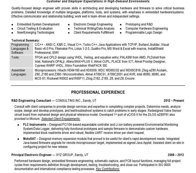 Embedded Hardware Engineer Sample Resume | haadyaooverbayresort.com