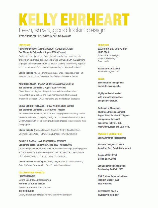 Best Creative Director Resume | Experience Resumes