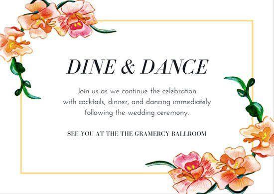 Wedding Reception Card Templates - Canva