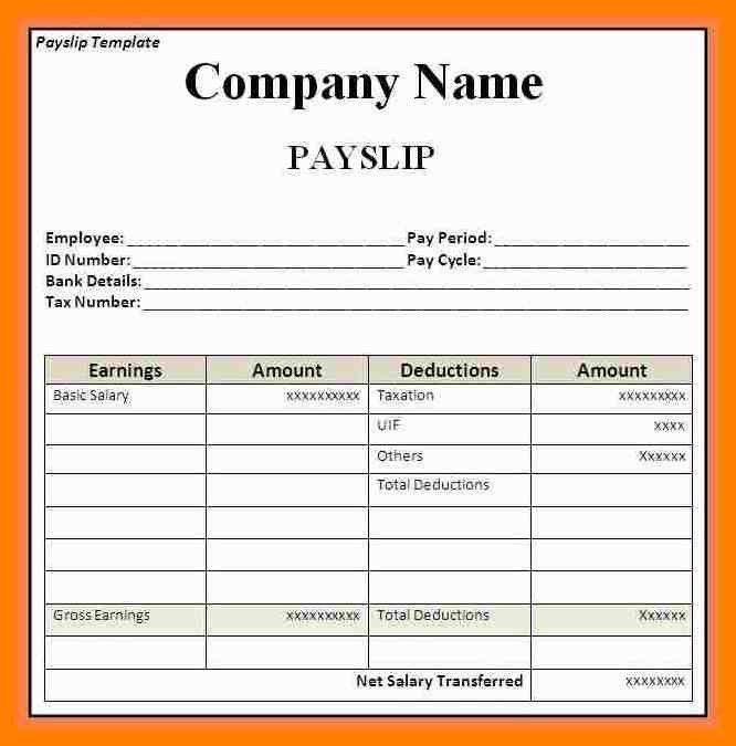 Online Payslip Template | Jobs.billybullock.us
