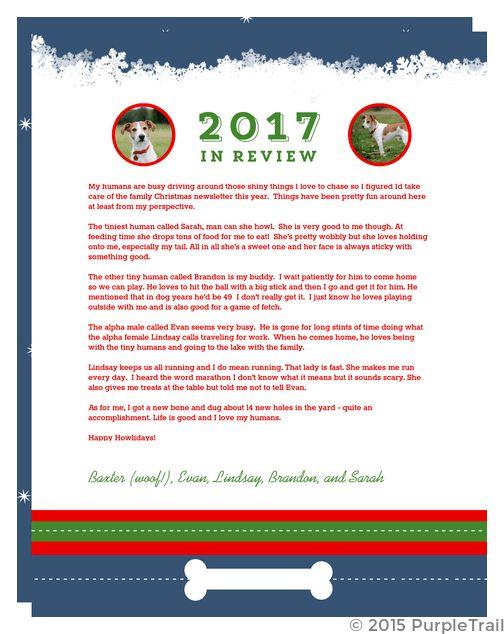 Dog Christmas Wishes Christmas Letter | Christmas Letter Templates