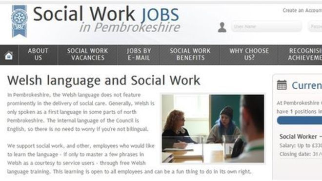 Pembrokeshire job advert sparks Welsh language row - BBC News