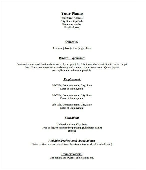 Resume Sample Pdf | jennywashere.com