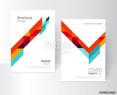 Minimalistic White cover Brochure design. Flyer, booklet, annual ...