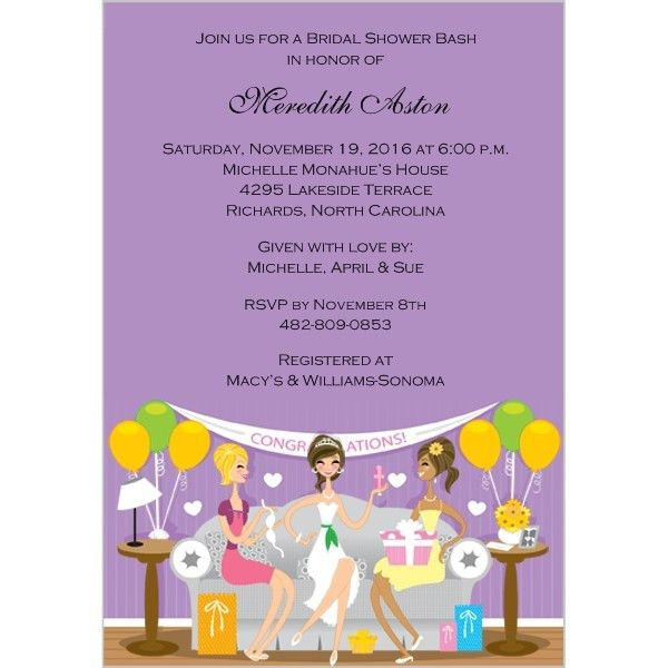 Wedding Invitations - Bridal Shower Invitations