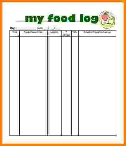 10+ Food Log Template | Card Authorization 2017  Food Journal Template Free