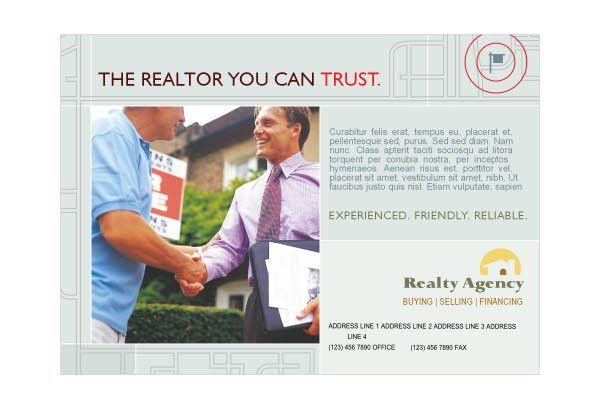 Real Estate Agent & Realtor 1 Print Template Pack from Serif.com