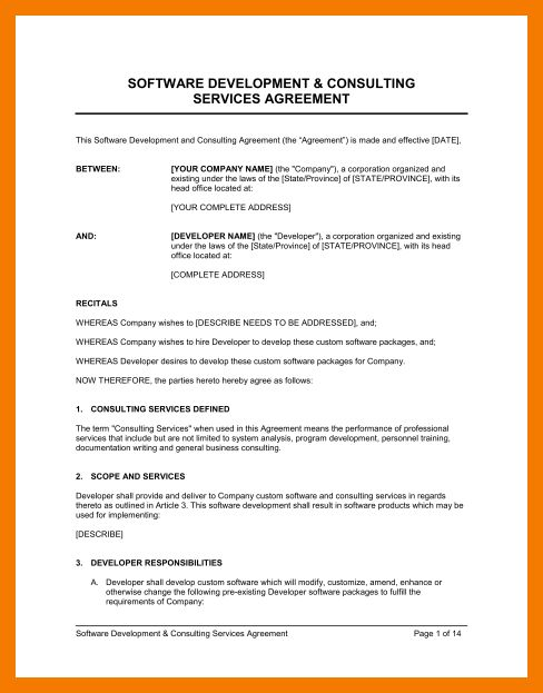 It Consultant Contract Template. it contract template 5 free word ...