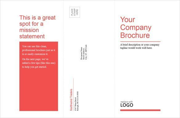 Tri Fold Brochure Template Word | Best Template Examples