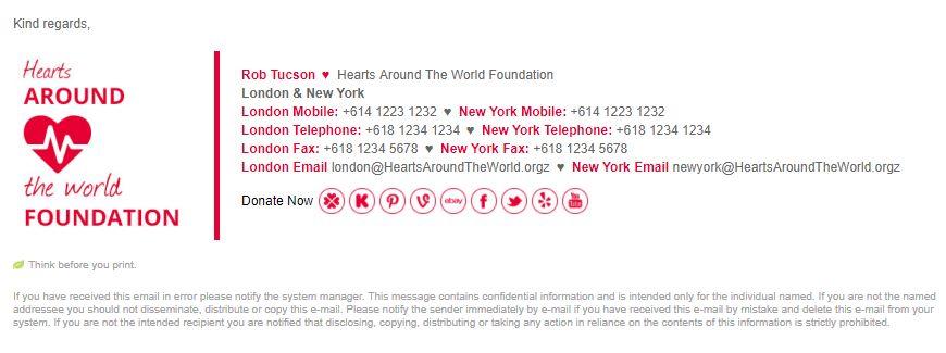 Professional Email Signature Template | Email Signature Rescue