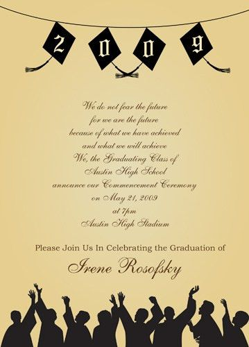 College Graduation Party Invitations Templates - iidaemilia.Com