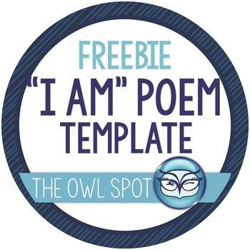 "I Am"" poem template by The Owl Spot 