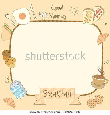 Vector Drawing Food Drink Breakfast Menu Stock Vector 589242986 ...