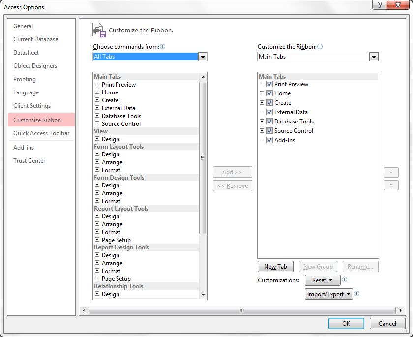 ms office - Microsoft Access 2013 developer tab missing - Stack ...