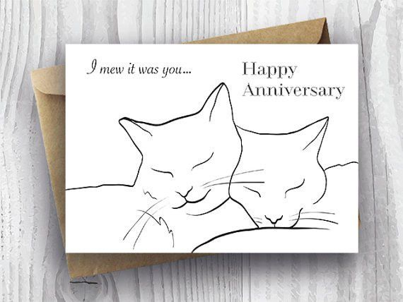 Happy Anniversary Card Printable Anniversary Card Romantic