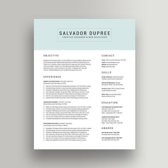 The 25+ best Good resume templates ideas on Pinterest | Good ...