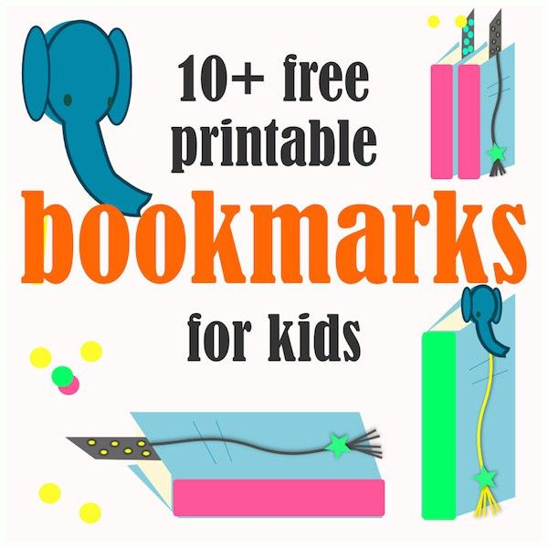 10 FREE printable bookmarks for kids - (perfect to make summer ...
