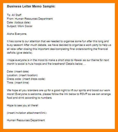 10+ example business memo   addressing letter