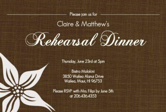 Rehearsal Dinner Invitations Templates – gangcraft.net