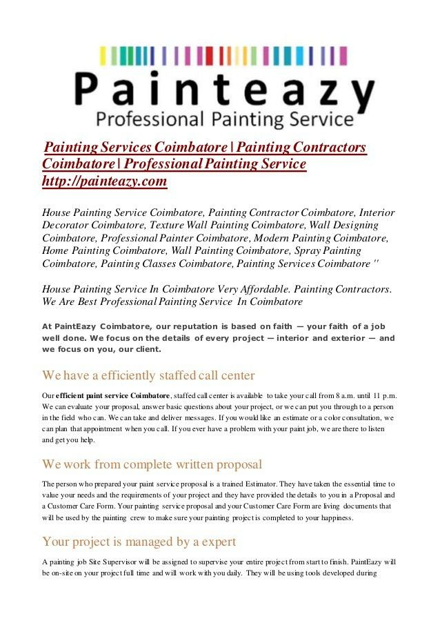 house painting contract form - Hallo