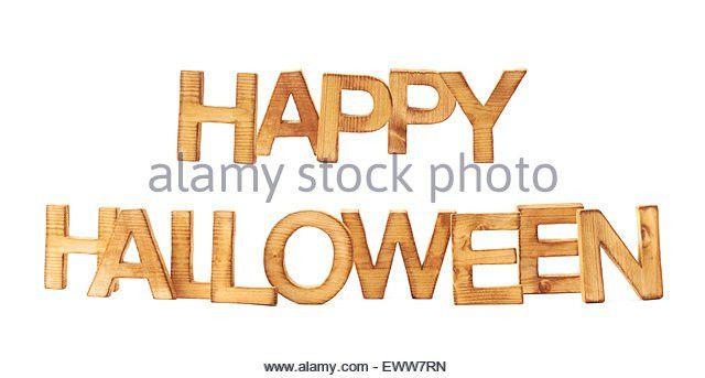 Word Halloween Made Block Letters Stock Photos & Word Halloween ...