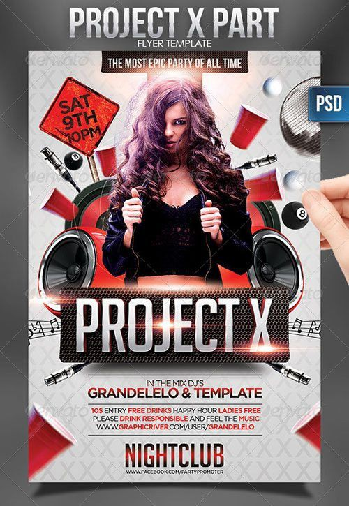Top 10 Best Graduation Prom PSD Flyer Templates