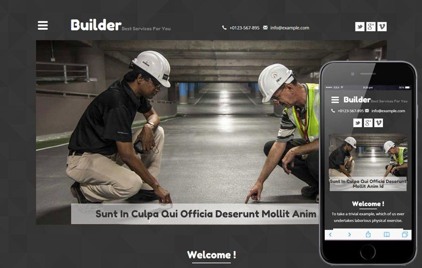 Builder a Real Estate Category Flat Bootstrap Responsive Web ...